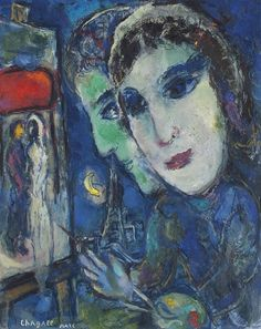 """Marc Chagall - Between Surrealism & NeoPrimitivism - """"Deux têtes"""" (c. Marc Chagall, Pablo Picasso, Chagall Paintings, Kandinsky, French Artists, Famous Artists, Impressionist, Les Oeuvres, Modern Art"""