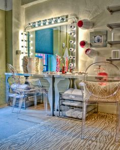 Carrie Fisher's Quick-Change Dressing Room Makeover - ELLE DECOR