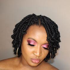 Hair info:Bob Spring Twist Hair Pre-twisted(6 Inch, 1B) Short Hair Braids Black, Natural Hair Braids, Natural Hair Styles, Short Bob Braids, Twist Braid Hairstyles, African Braids Hairstyles, Twist Braids, Short Crochet Braids Hairstyles, Beauty