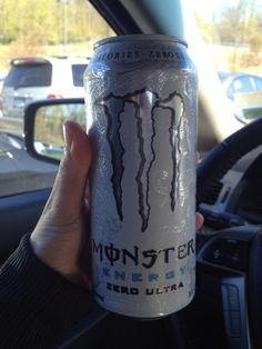 yesterdays drink of choice Monster Energy Drink; Zero Calories