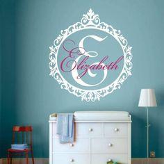 PERSONALISED name skull kids boys girls gift Bedroom Wall Art Vinyl Sticker V452