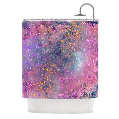 """Marianna Tankelevich """"Pink Universe"""" Pink Purple Shower Curtain from KESS InHouse"""