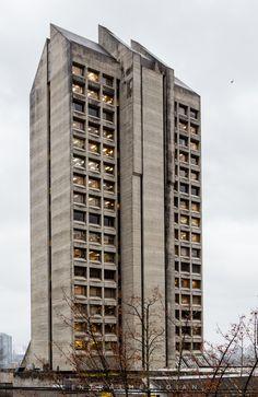 Frank Stanzl building Vancouver BC Brutalist Architecture