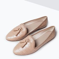 ZARA - SHOES & BAGS - SLIPPERS WITH TASSELS