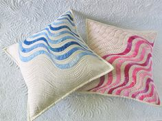 Free Pattern - Raw Edge Applique Quilted Pillows /Geta's Quilting Studio