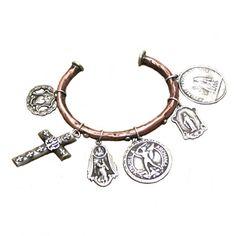 Saint Bangle Cuff Bracelet | Handmade Jewelry | Love Tokens Jewelry