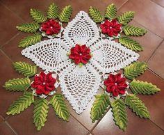OS CROCHES DA ELSA: Ideias para o Natal 8- Centro de Mesa Natalino