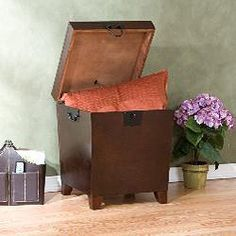 @Overstock.com   Pyramid Trunk End Table Features A Combination Of  Contemporary Style And