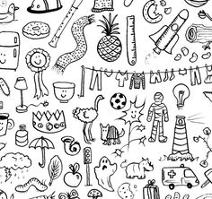 Doodlies Giclee Print by katiegreen on Etsy