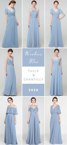 windsor blue wedding color combo ideas with bridesmaid dresses 2020#wedding #weddinginspiration ##bridalparty #maidofhonor #weddingideas #weddingcolors #tulleandchantilly Affordable Bridesmaid Dresses, Wedding Bridesmaid Dresses, Blue Wedding, Wedding Colors, Junior Bridesmaids, Long Shorts, Maid Of Honor, Windsor, Weddingideas