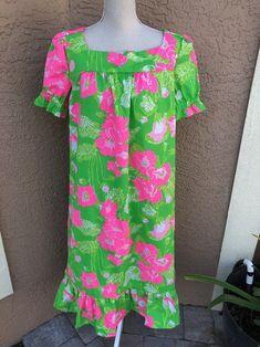 374f72c9cad Handmade Dress Vintage Lilly Pulitzer Fabric Plus Size MuMu Oversize 1X 2X   LillyPulitzer