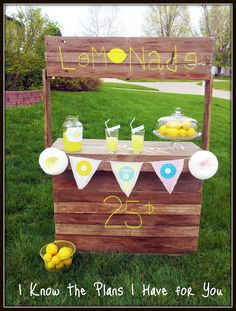 Lemonade stand from 2 pallets and some scrap wood pallet for Kids lemonade stand plans