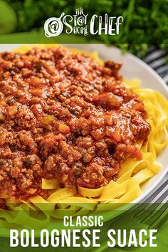 Learn three ways to make Classic Bolognese Sauce with instructions for the stovetop, Instant Pot, and slow cooker. This traditional Italian red sauce is savory, rich, and full of flavor. Pair it with your favorite pasta for the best weeknight dinner! #bolognesesauce Healthy Meat Recipes, Beef Recipes, Cooking Recipes, Recipies, Beef Casserole Recipes, Slow Cooker Recipes, Food Dishes, Main Dishes, Pasta Dishes