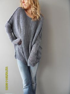 Oversized / Bulky / Slouchy tunic. Cotton loose by RoseUniqueStyle