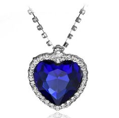 Movie Series Titanic Ocean Heart Pendant For Women Charms Fashion Crystal Rhinestone Jewelry Necklace Ocean Jewelry, Red Jewelry, Heart Jewelry, Fashion Jewelry, Jewellery, Love Necklace, Heart Pendant Necklace, Heart Pendants, Costume Necklaces