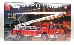 "This is a model kit of the Americn LaFrance Aero Chief Fire Truck made by AMT in 1/25 scale. - Over 300 detailed parts - Model is over 20"" long with an articula"