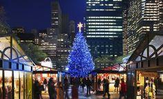 Bryant Park. Mercadillos navideños en Nueva York.