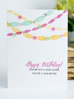 A Year Better Card by Ashley Cannon Newell for Papertrey Ink (June 2015)