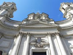 Sant Agnese In Agone At Piazza Navona Piazza Navona, Rome Italy, Louvre, Building, Facades, Travel, Image, Viajes, Buildings