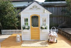 Our Kmart cubby hack — felicity cook. Kids Cubby Houses, Kids Cubbies, Play Houses, Indoor Garden, Outdoor Gardens, Playhouse Interior, Lattice Garden, Wendy House, Shed Design