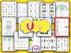 Letter Uu Pack (from Sharing Kindergarten)