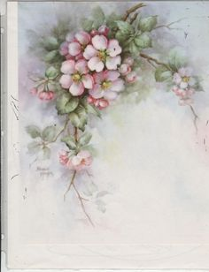 Apple Blossoms #52 by Sonie Ames  China Painting Study 1972