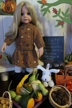 Tuto gilet et jupe d'automne poupée Gotz