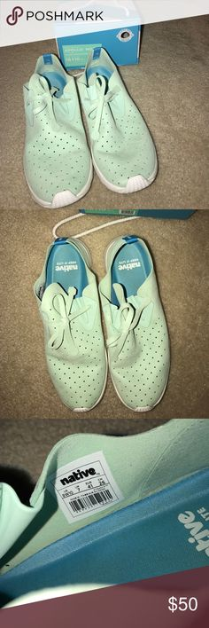 Native Apollo Moc Sneakers Spring-fresh colored sneakers by Native. Super light and comfortable!!! Very mild signs of wear on the soles, but other than that, really good condition! I have the black pair and I love them (just never really wore this color). Urban Outfitters Shoes Athletic Shoes