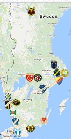 2021 Allsvenskan Map Sweden Map, Fifa, European Soccer, Soccer Fans, Liverpool Fc, Logo Inspiration, Team Logo, Sports, Cards