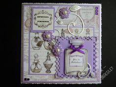 Made using Craftwork Cards Vintage Ephemera papers and die cuts. Vintage Ephemera, Vintage Cards, Craftwork Cards, Periwinkle, Lilac, Lavender, Die Cut Cards, Country Charm, Craft Work