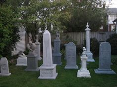 Set some of mine out today to get an idea of space and posirtoning since were putting the cemetery in the back yard this year.