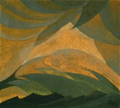 Arthur G. Dove / Golden Storm / 1925 / Oil and metallic paint on plywood panel / Phillips Collection / love this!