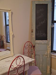 Chateau Chic - Old Door Chalkboard