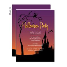 Halloween party invitations, Haunted Lane