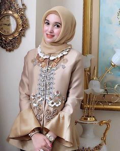 Today's formal outfit Hijab Gown, Kebaya Hijab, Kebaya Dress, Kebaya Muslim, Muslim Dress, Modesty Fashion, Abaya Fashion, Moslem Fashion, Model Kebaya
