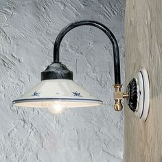 Ręcznie malowana lampa ścienna RUSTICO