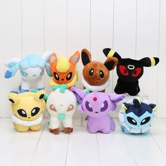Just in to our Accessories collection! Kawaiiiii :3  Pokemon Plush Eevee evolutions - 8pcs/set 13cm