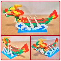 Dragon Boat - Blocks 鑽石積木創作
