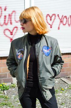 Urban Renewal NASA vintage bomber jacket | WHAT PIXIES WEAR – Sustainable Fashion Blog