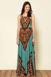 vestido longo mira chevron