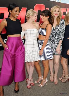 Lea Michele, Keke Palmer, Emma Roberts and Skyler Samuels at Comic-Con