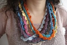 crochet necklace love