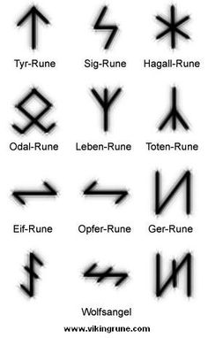 Norse Rune Symbols - via Viking Rune site article on the rune symbols & the Third Reich