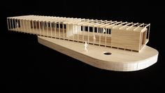 Lineair bouwen: het dorp/lintbebouwing Maquette Architecture, Concept Models Architecture, Interior Architecture, Shipping Container Design, Temporary Architecture, Retail Facade, Timber Structure, Arch Model, Design Process