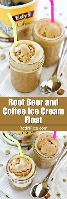 This Root Beer and Coffee Ice Cream Float is a variation on the classic. It has great flavor and is a delightful treat on a warm day. Yummy Snacks, Yummy Drinks, Yummy Treats, Sweet Treats, Yummy Food, Best Dessert Recipes, Coffee Recipes, Fun Desserts, Sweet Recipes