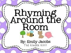 Write the room: Rhyming! This product will help with rhyming practice. Cut out the cards and place around the room, students will use the recording sheet to try to find the word that rhymes and record it on the line. *Check out my store for more write the room activities* Write the Room: ABC's.