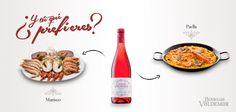 ¿Con qué plato os gustaría maridar nuestro Conde de Valdemar Rosado? Paella, Bottle, Count, Wine Cellars, Dishes, Flask, Jars