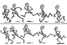 """anatoref: """" Walking Animation Tutorial Top Image Row Left, Right Row 3 Row Left, Right Row 5 & Bottom Image """" Animation Storyboard, Animation Sketches, Animation Reference, Drawing Reference, Walk Cycle Reference, Character Design Cartoon, Character Design Animation, Character Design References, Gesture Drawing"""