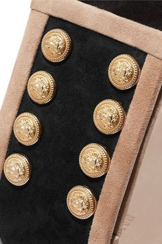 Balmain - Tassel-trimmed Suede Waist Belt - Black - FR34