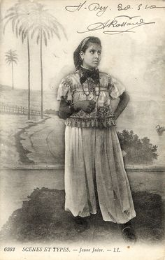 Jeune juive.Algerian woman